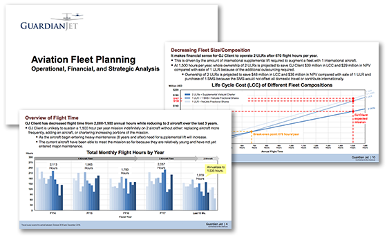 Aircraft fleet planning proposal by Guardian Jet