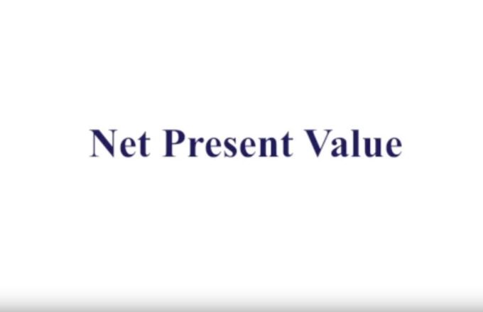 2014 Net Present Value - video