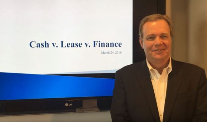 Lease vs Finance vs Cash - March 2016 - video