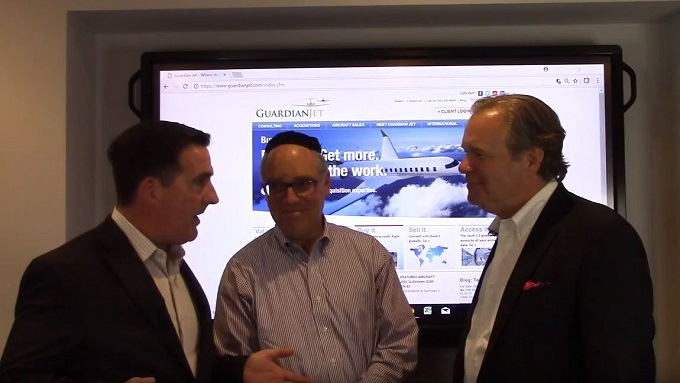 Don Dwyer Welcomes Wheels Up Executives to Guardian Jet LLC - video